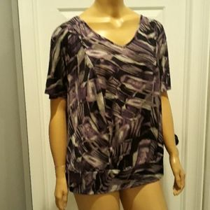 AGB women pullover tunic top plus size 1X blouse